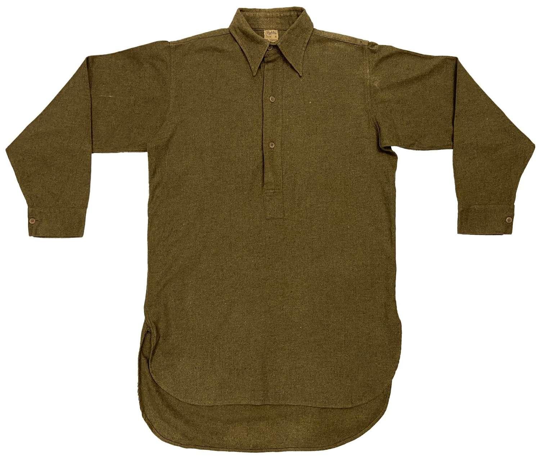 Original 1948 Dated British Army Ordinary Ranks Collared Shirt