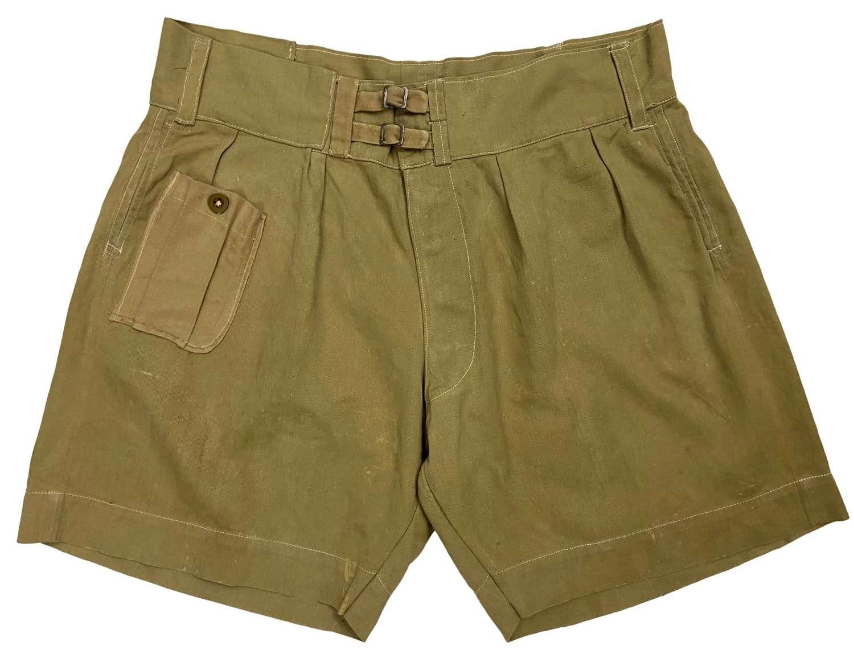 Original WW2 Indian Made British Khaki Drill Shorts