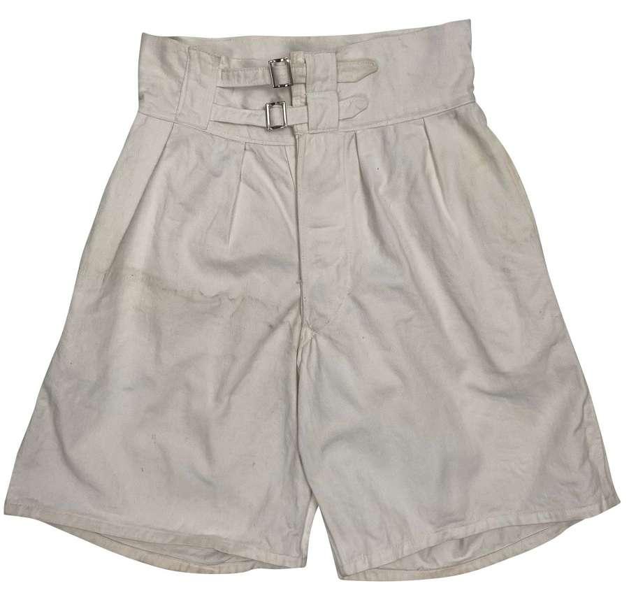 Original 1940s White Royal Navy Shorts