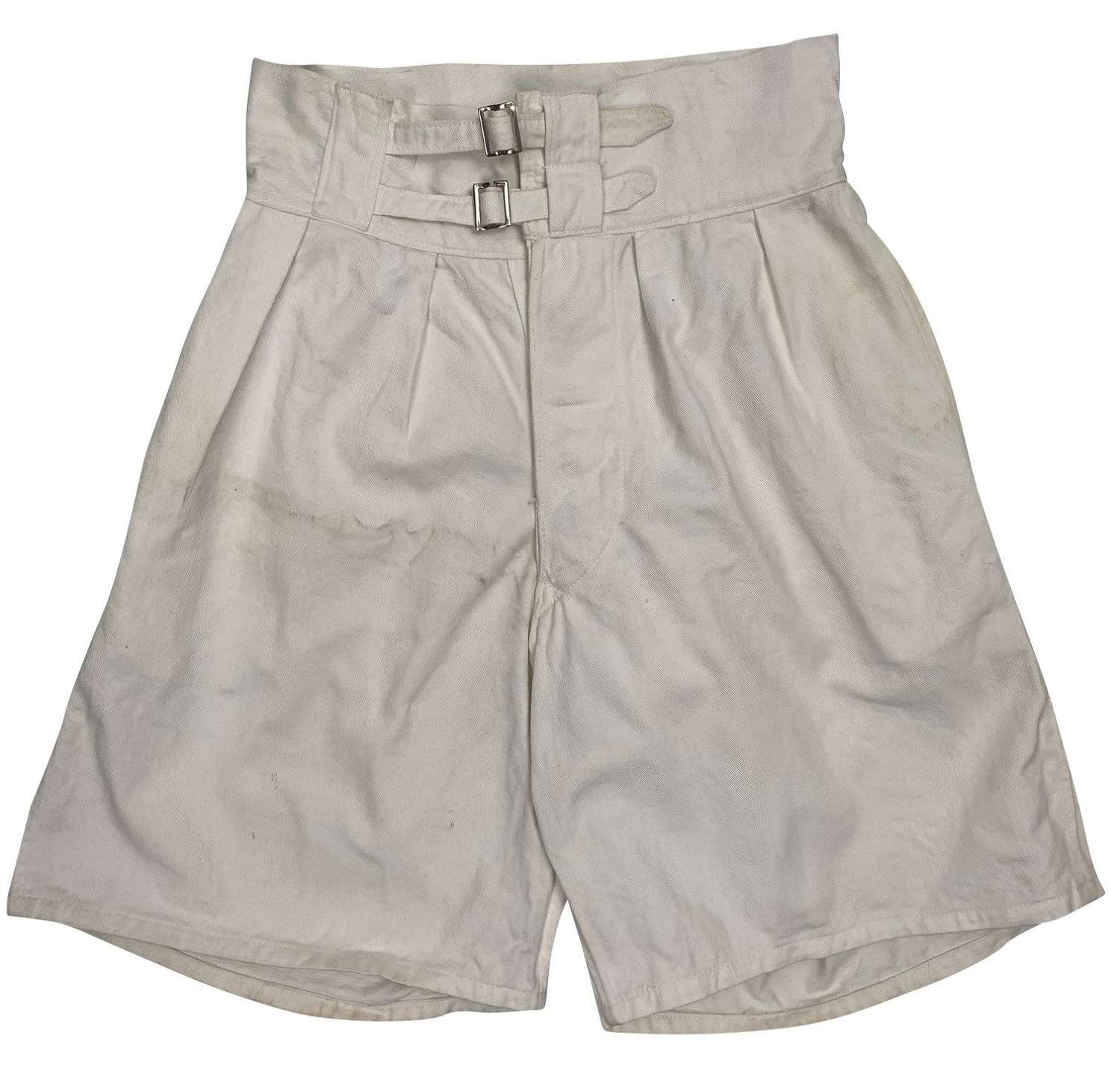 Original 1940s White Royal Navy Shorts