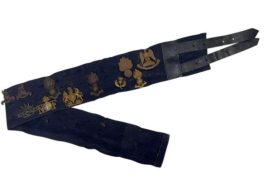 Original WW2 Period Blue Stable 'Trophy' Belt