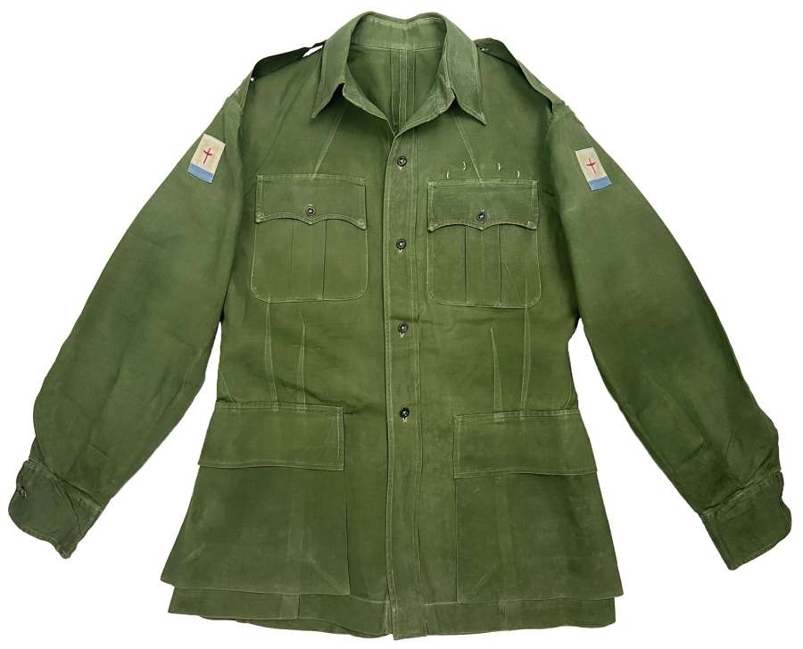 Original 1950s British Officers Jungle Green Bush Jacket - FARELF