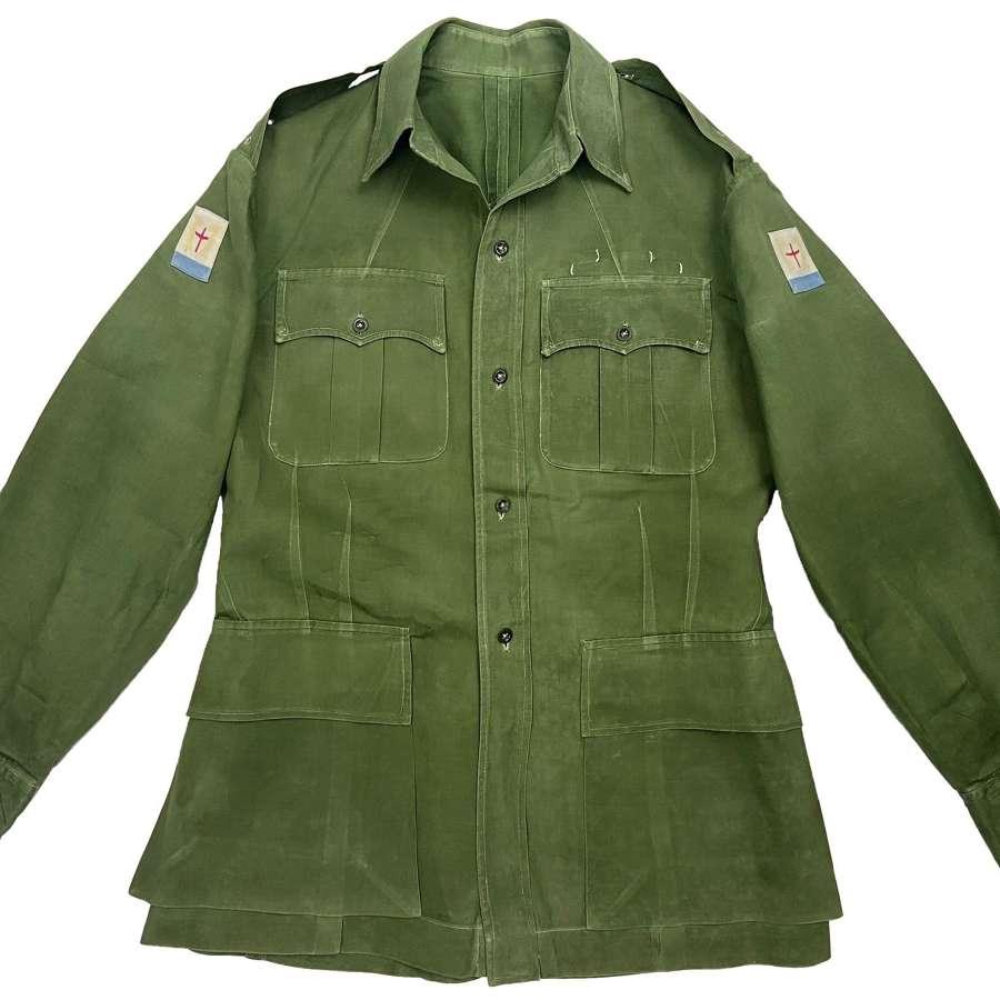 Original 1950s British Officers Jungle Green Bush Jacket - FARELF