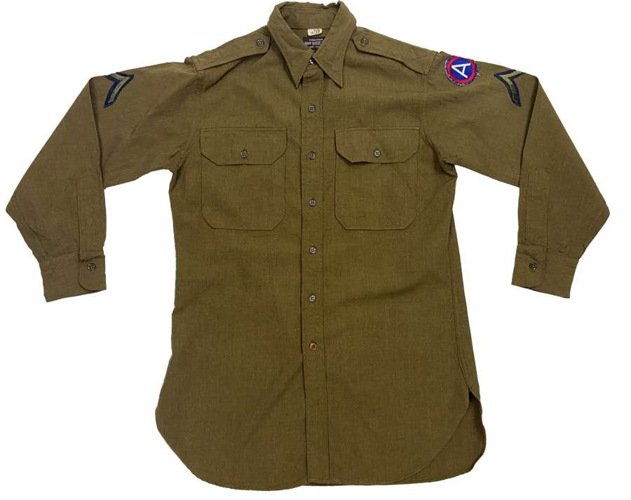 Original WW2 Period United States Officers Shirt - Private first Class