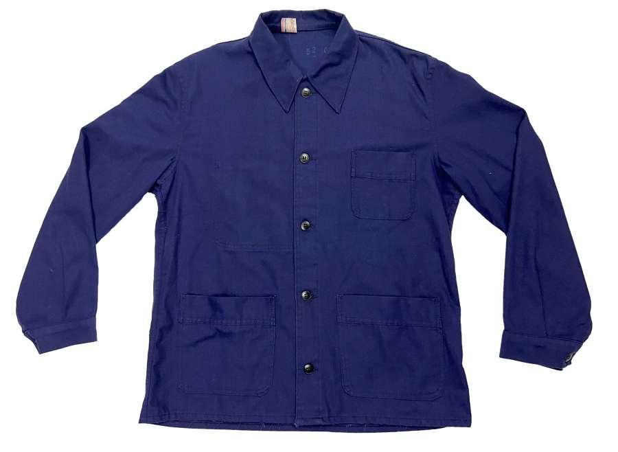 Vintage Blue French Workwear Chore Jacket