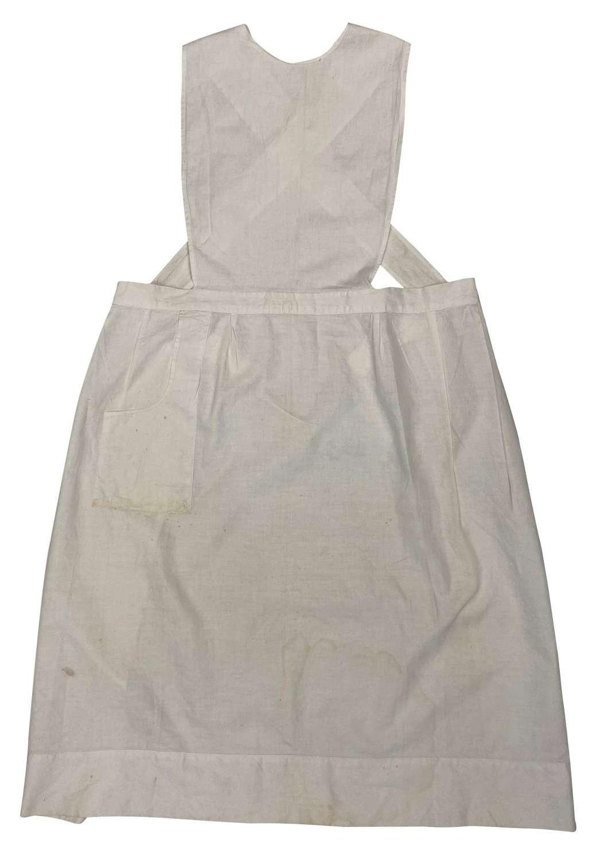 Original 1930s White Cotton Nurses Apron by 'Lily White'