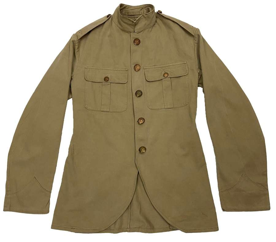 Original 1938 Dated Converted Khaki Drill Scottish Cutaway Tunic