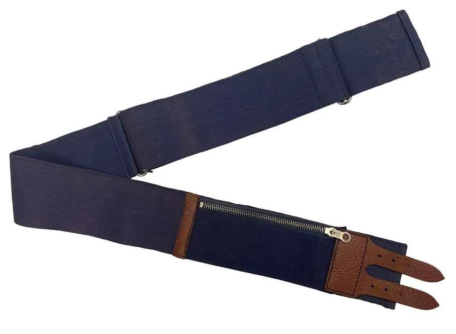 Original 1950s Navy Blue Stable Belt
