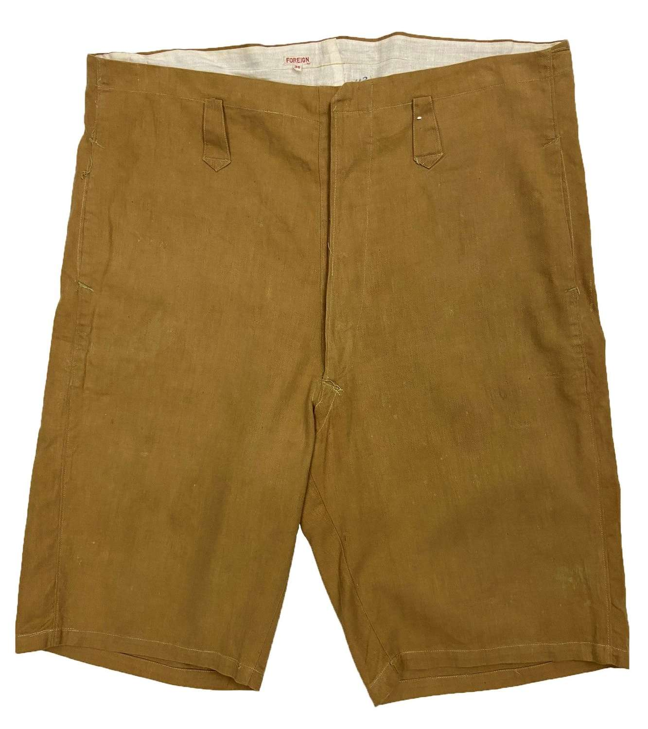 Original 1920s Private Purchase Khaki Drill Shorts