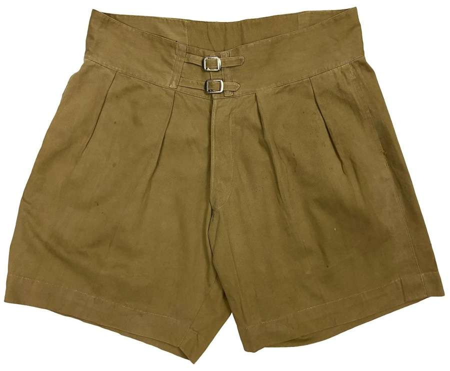 Original 1940s British Khaki Drill Shorts