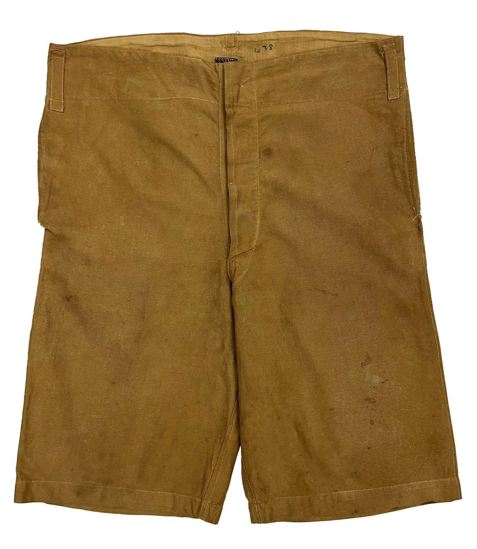 Original 1920s Khaki Men's Shorts by 'Umbro'