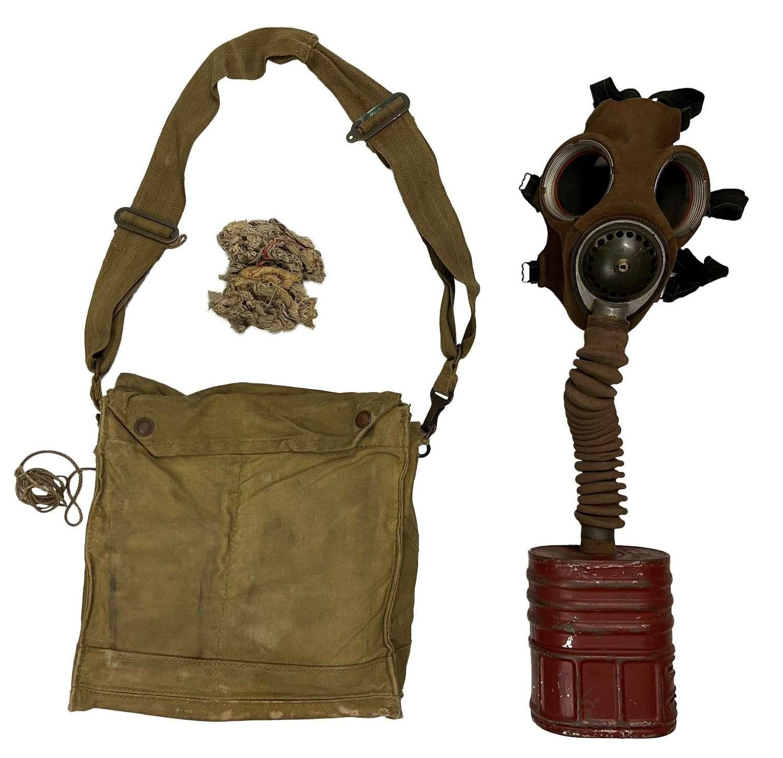 Original British Army MKVI Chest Respirator Gas Mask
