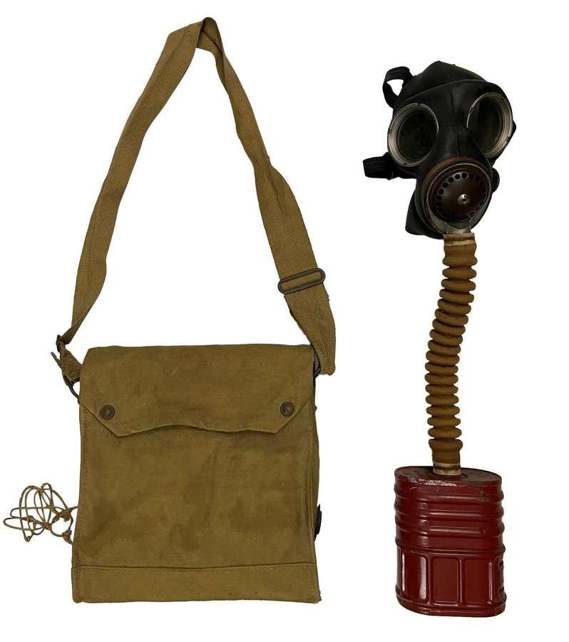 Original Early WW2 British Army Chest Respirator Gas Mask MK VII