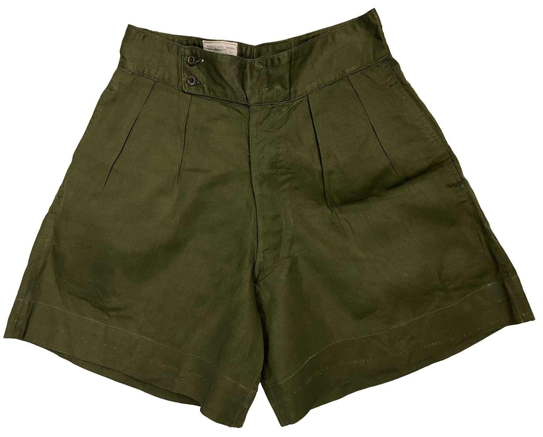 Original 1959 Dated 'Shorts Drill Green Gurkas'