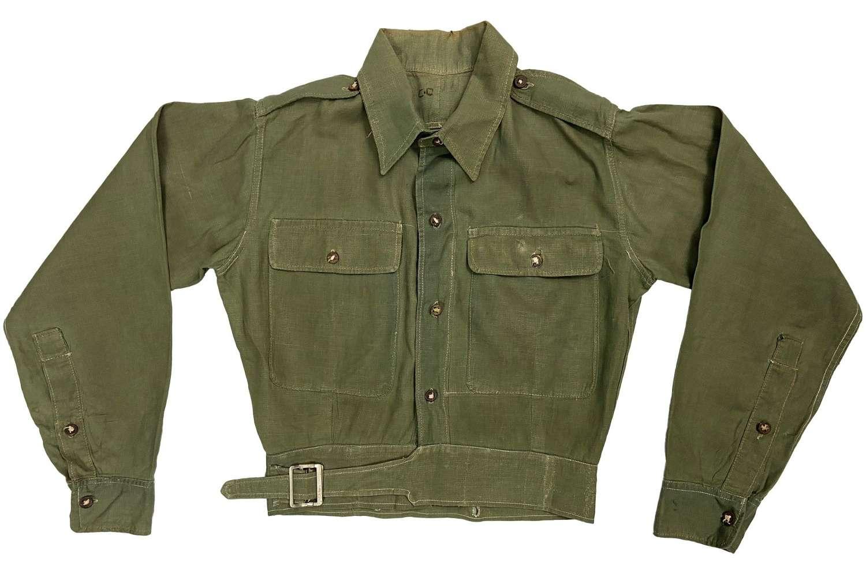 Original 1945 Dated British Army Jungle Green Battledress Blouse