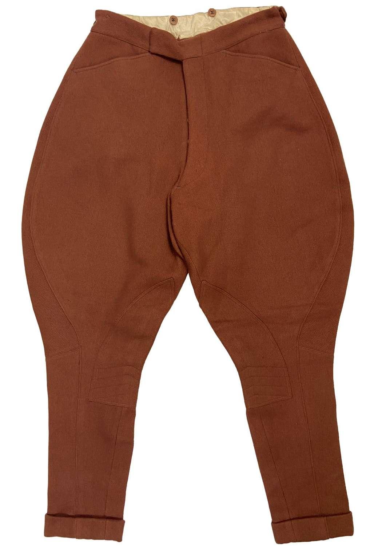 Original 1950s Men's Russet Brown Jodhpurs