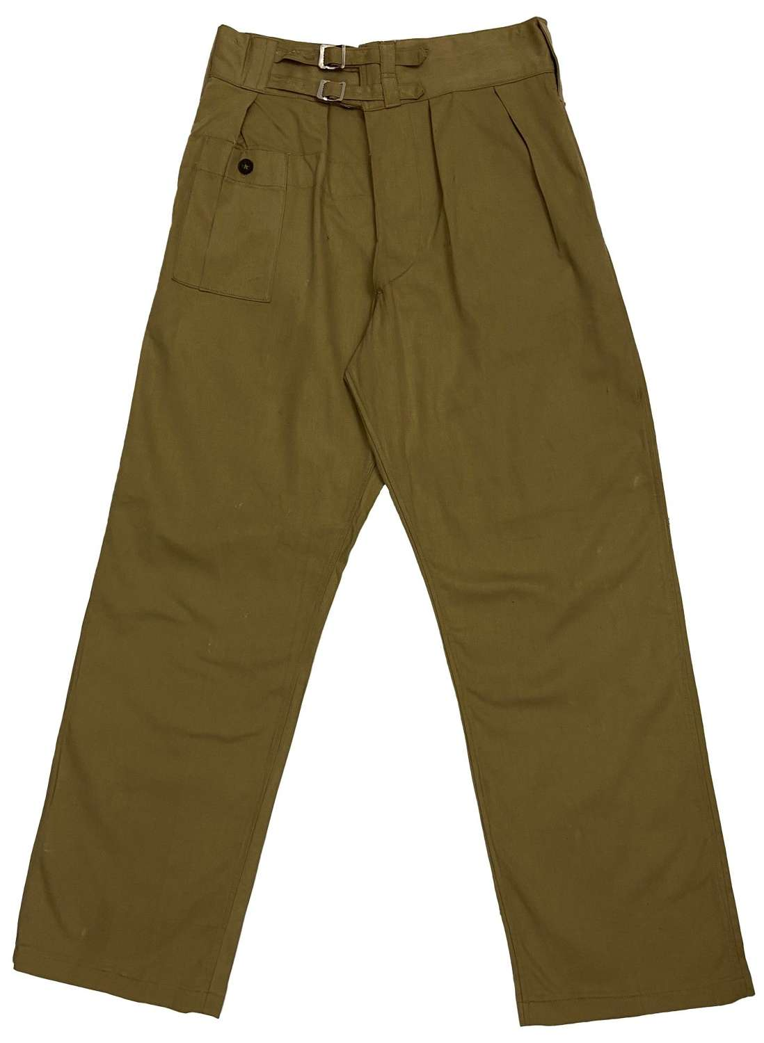 Original 1945 Dated Indian Made British Army Khaki Drill BD Trousers