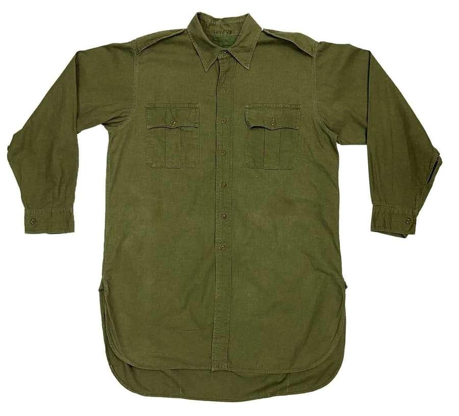Original 1960s British Jungle Green Aertex Shirt