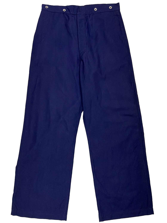 Original 1941 Dated Swedish Military Work Trousers