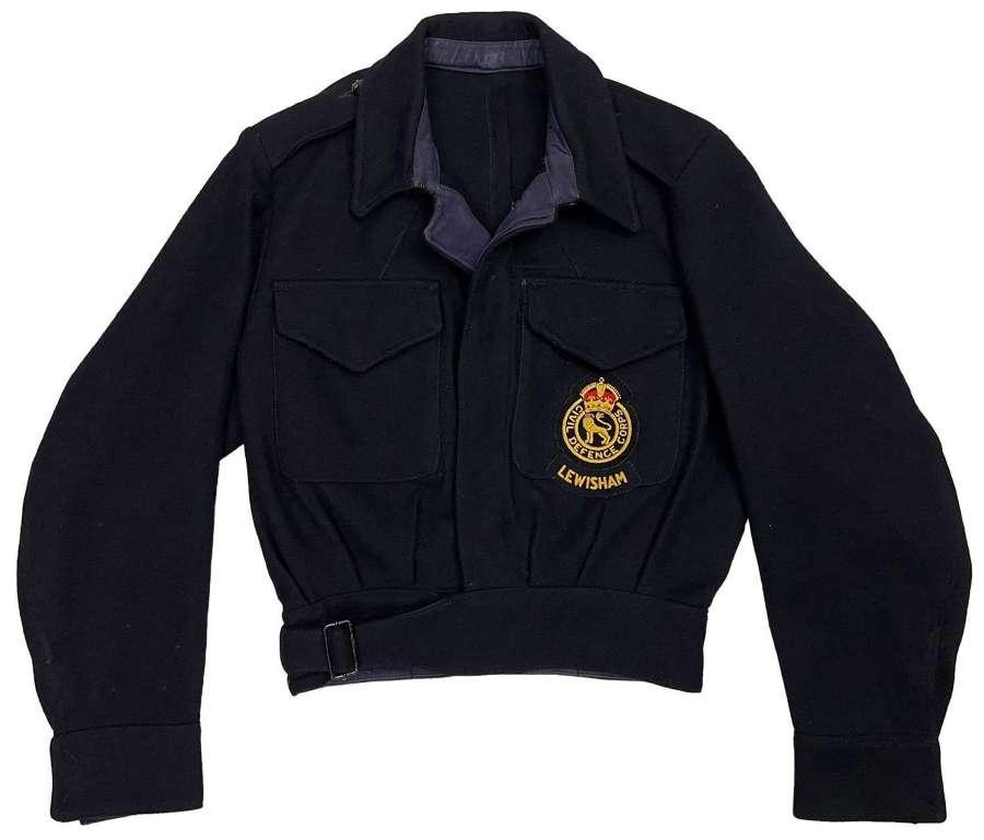 Original 1952 Dated Women's Civil Defence Battledress Blouse Lewisham