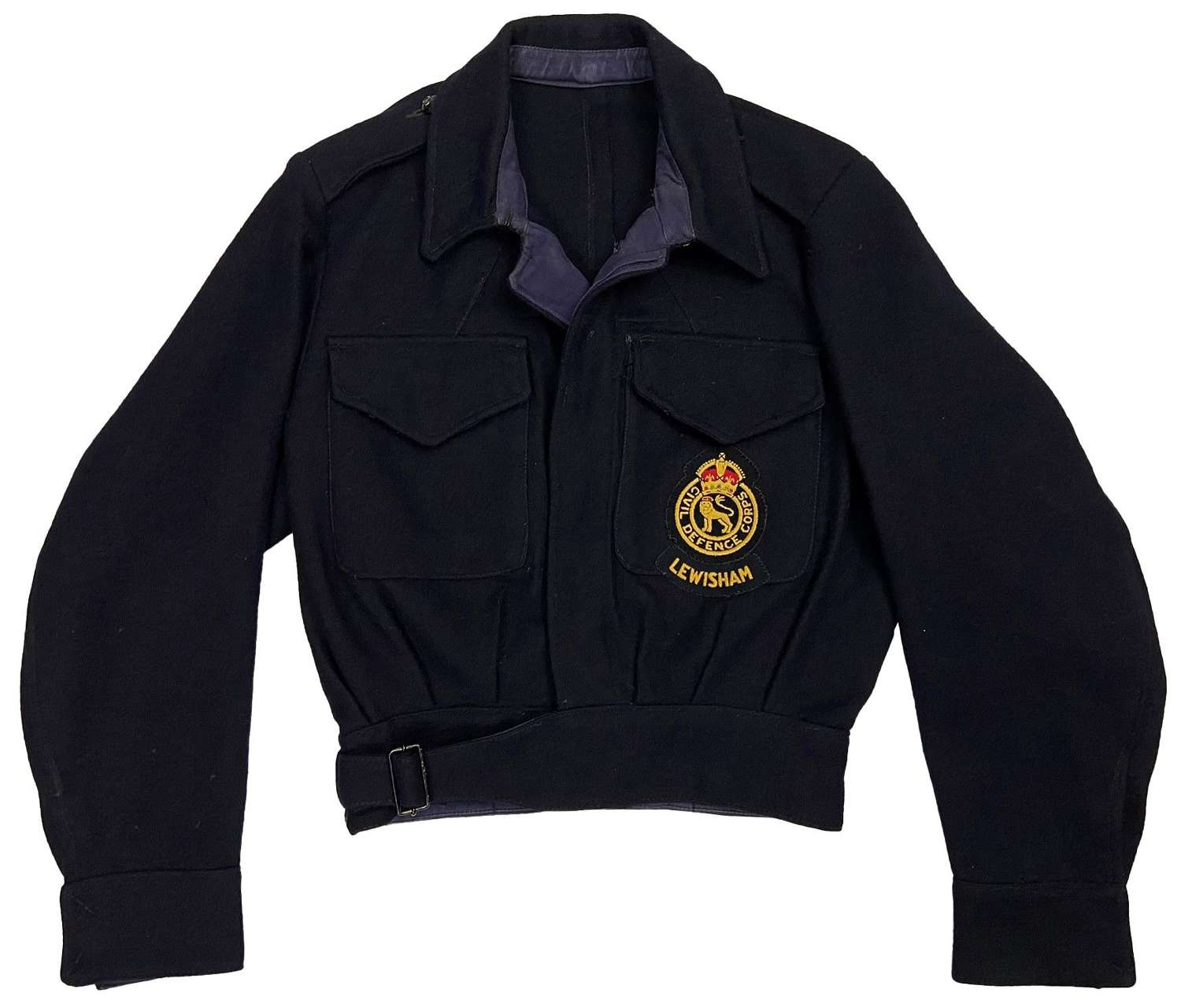 Original 1952 Dated Women's Civil Defence Battledress Blouse Lewisham