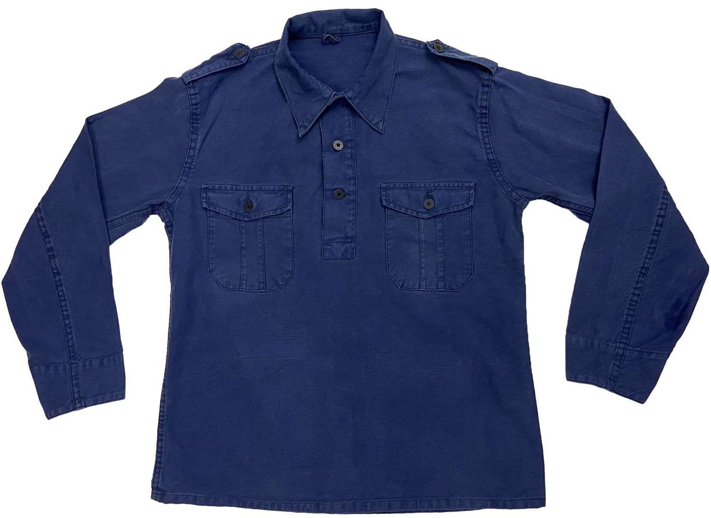 Original 1960s Swedish Military Half Placket Work Shirt