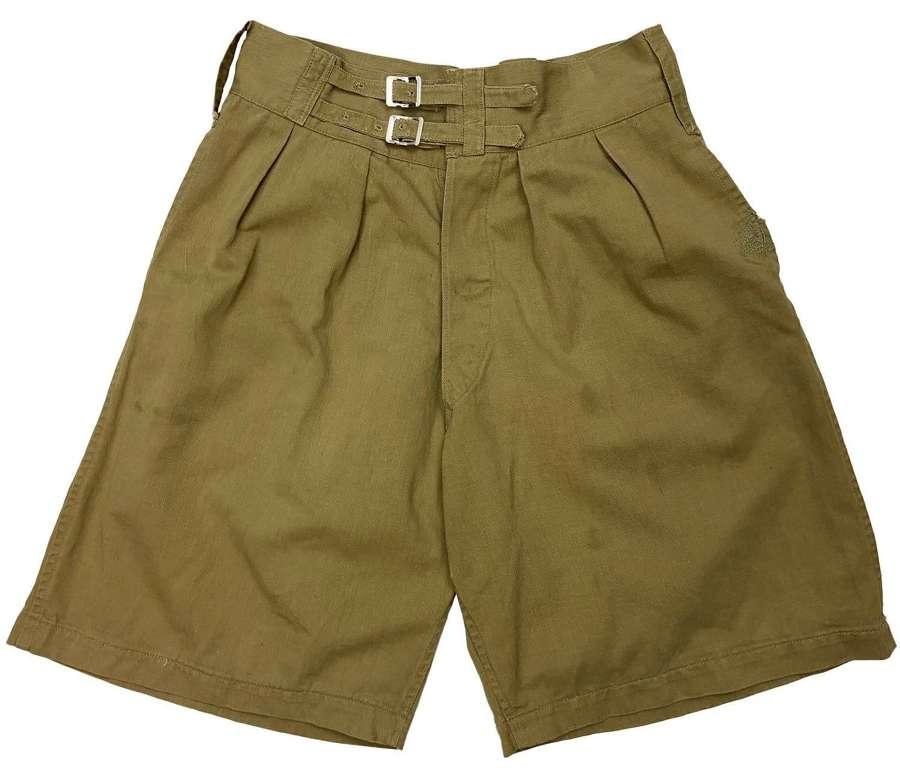 Original 1943 Dated Indian Made Khaki Drill Shorts