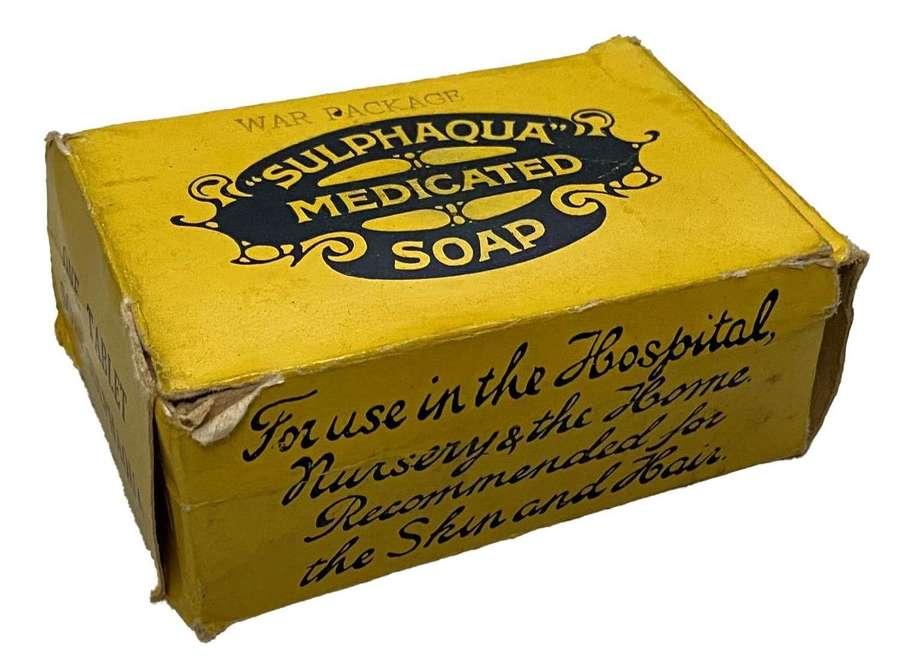 Original WW2 War Package 'Sulphaqua' Medicated Soap