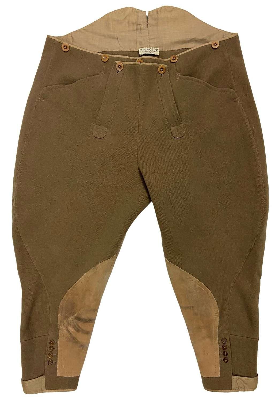 Original 1930s Men's Khaki Whipcord Breeches by 'H. Huntsman & Sons'