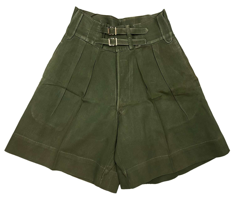 Original 1940s British Jungle Green Shorts