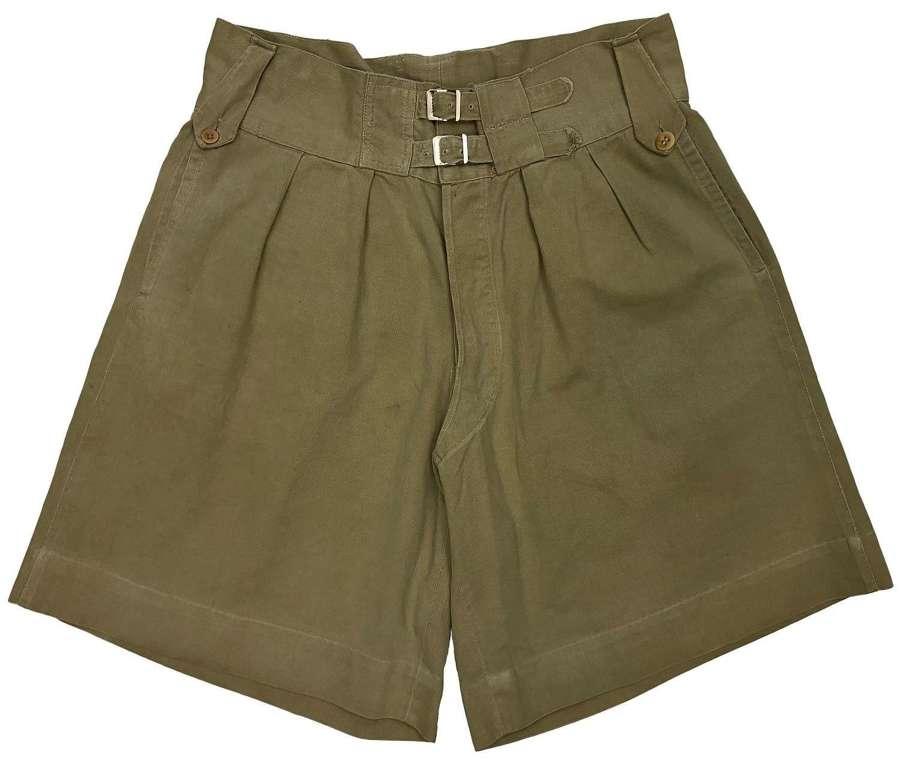 Original 1940s British Khaki Drill Shorts - Captain Brett