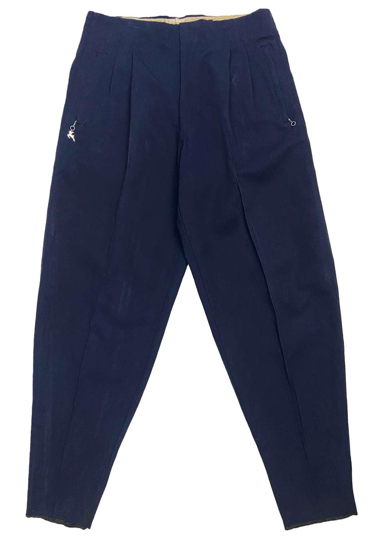 Original 1950s Navy Blue Gabardine Ski Trousers by 'White Stag'