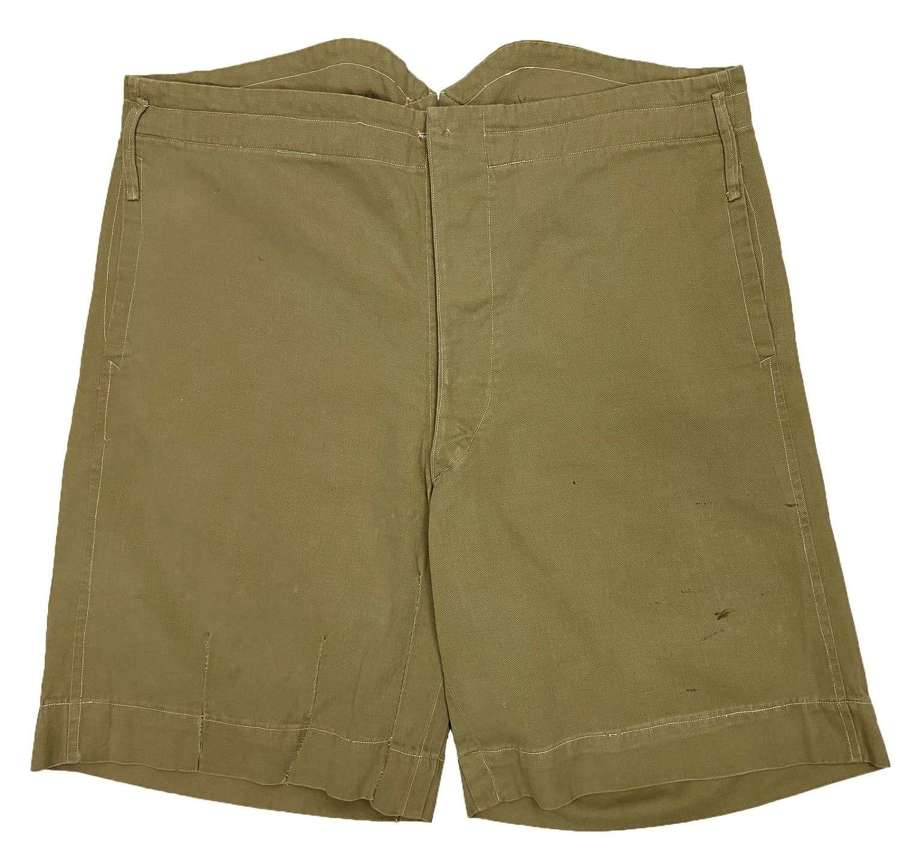 Original Early 20th Century British Khaki Drill Shorts
