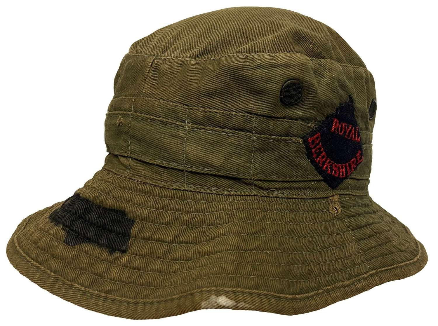 Original 1945 Dated British Army Jungle Service Hat - Size 7 1/4