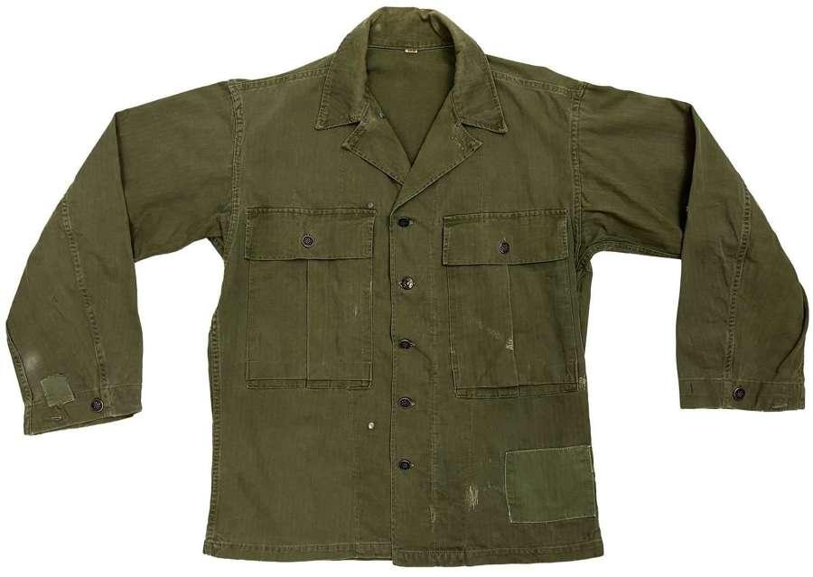 Original WW2 US Army Third Pattern HBT Jacket - Size 36R