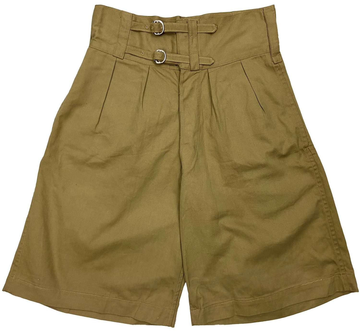 Original 1942 Dated Indian Made 1941 Pattern Khaki Drill Shorts