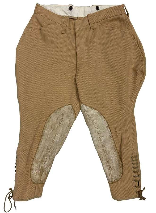 Original 1950s Men's Beige Whipcord Breeches
