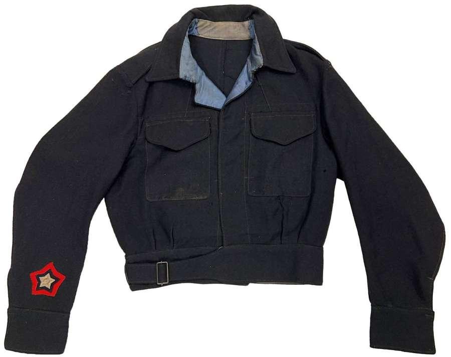 Original 1950 Dated Civil Defence Battledress Blouse A.R.P. 57