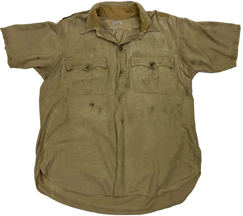 Original WW2 Theatre Made British Officers Khaki Drill Shirt