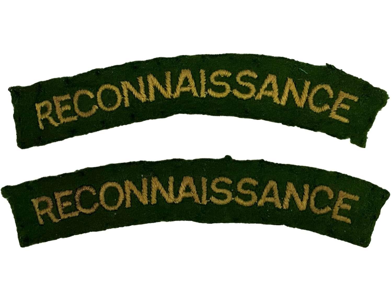 Original WW2 Reconnaissance Corps Shoulder Titles