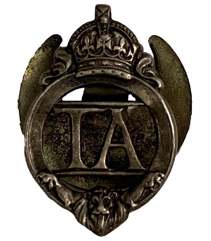Original WW2 Territorial Army Lapel Badge - 83857