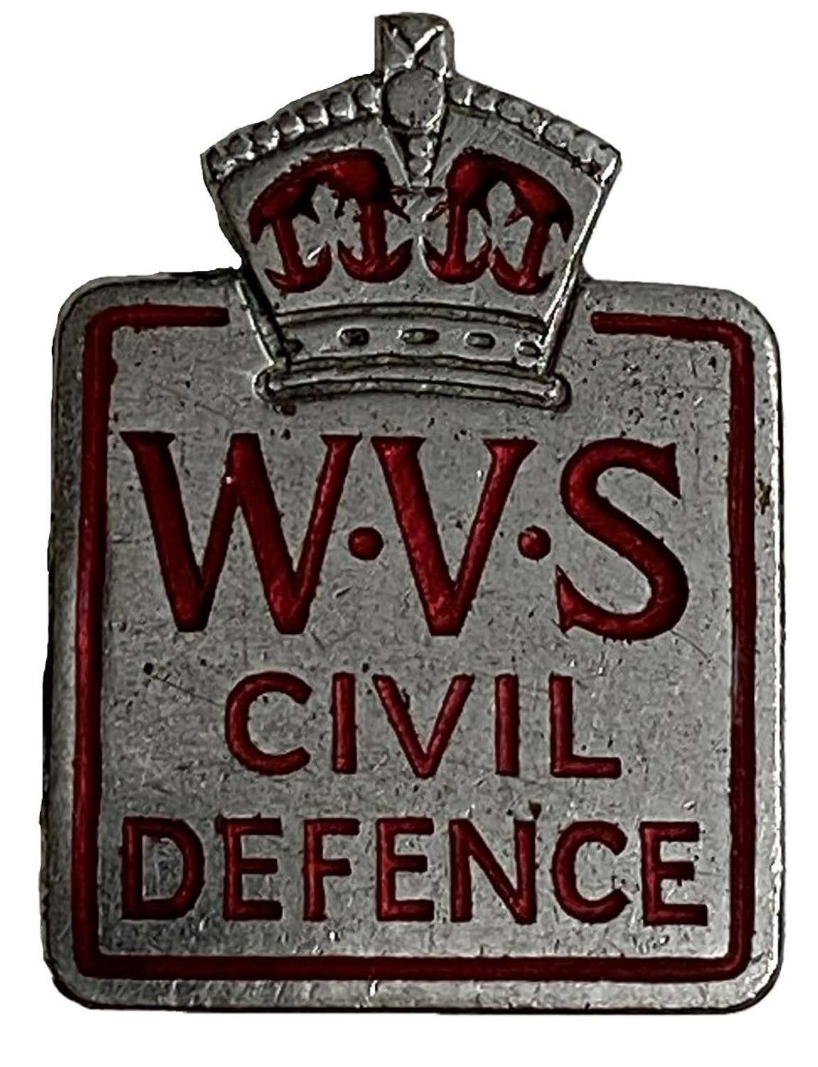 Original W.V.S. Civil Defence Badge