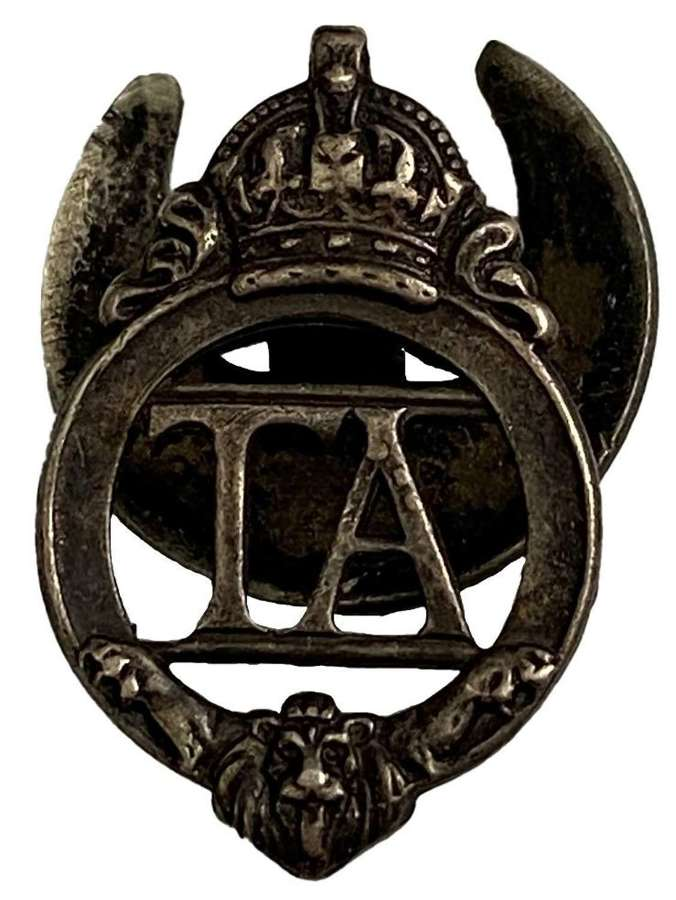 Original WW2 Territorial Army Lapel Badge - 278771