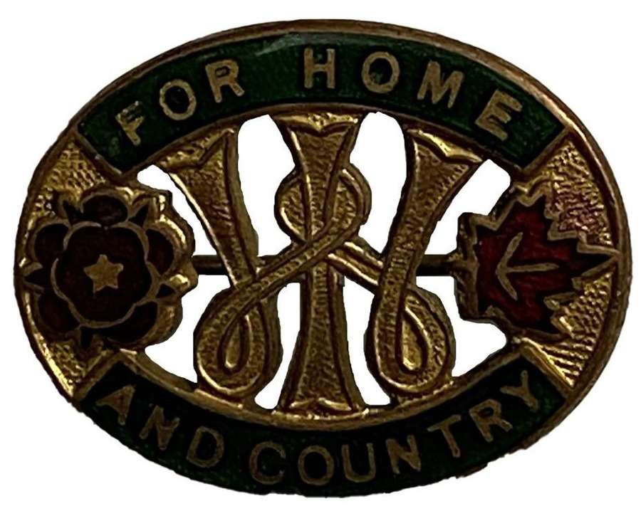 Original WW2 Women's Institute 'For Home and Country' Badge
