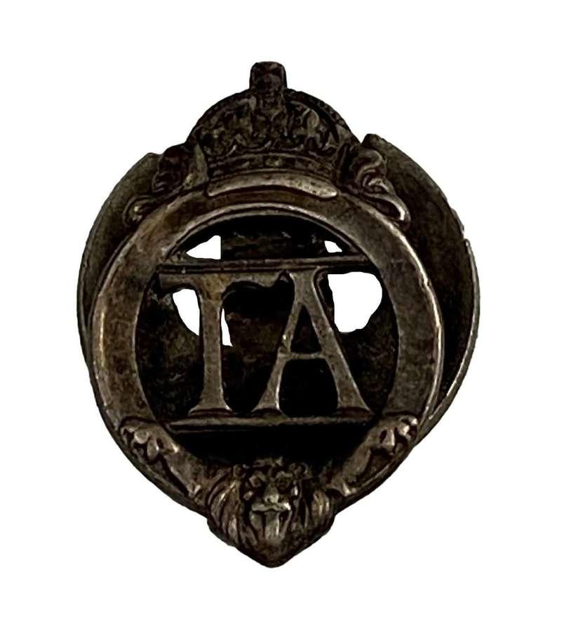 Original WW2 Territorial Army Lapel Badge - 461377