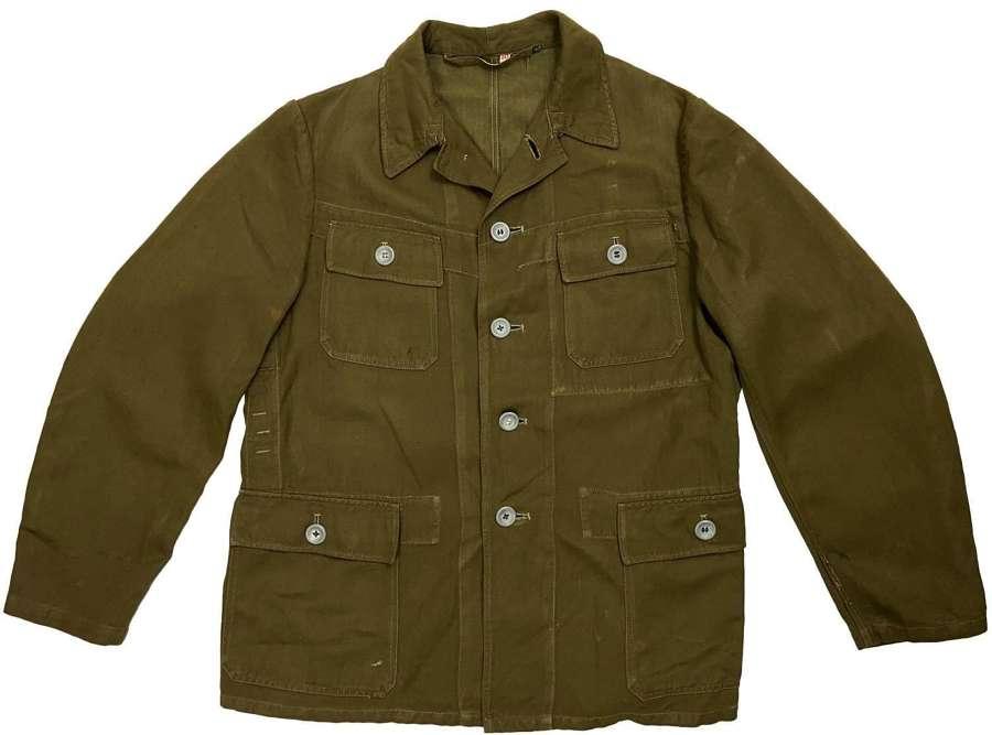 Original early 1980s German Military HBT Work Jacket