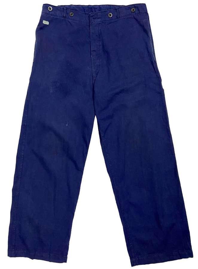 Original 1974 Dated German Military Work Trousers