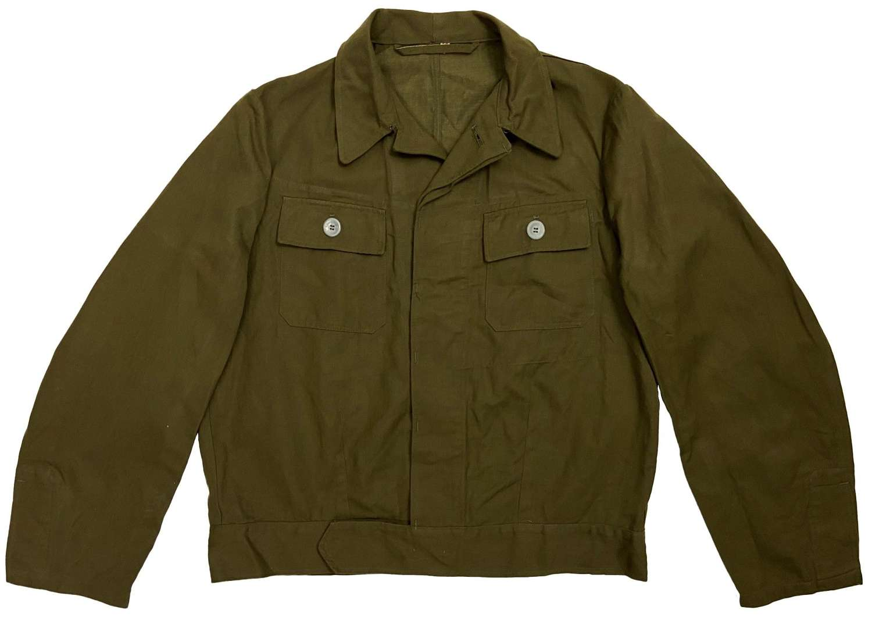 Original Early 1980s German Military HBT Blouson Work Jacket