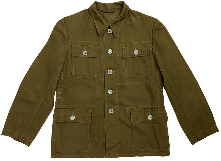 Original Early 1980s German Military HBT Workwear Jacket (2)