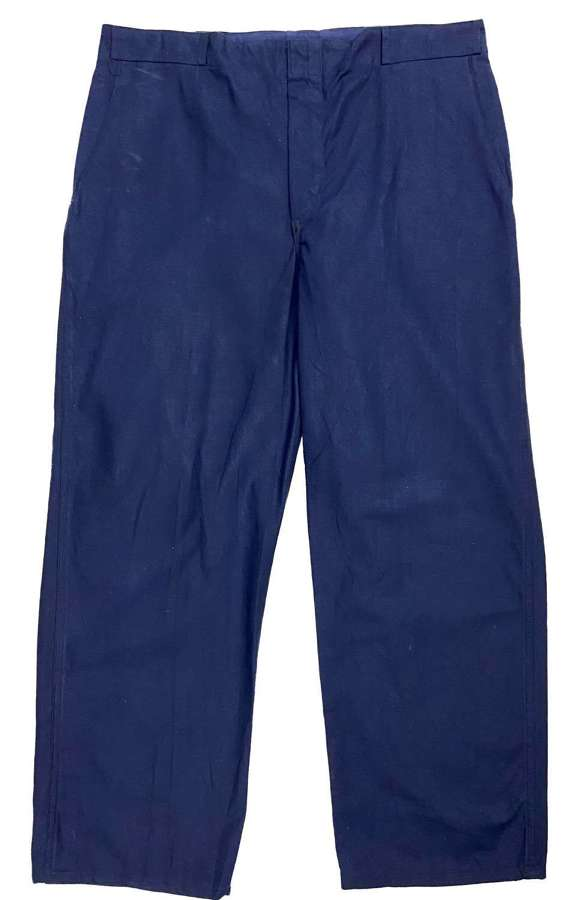 Original 1970s German Military Navy Workwear Trousers